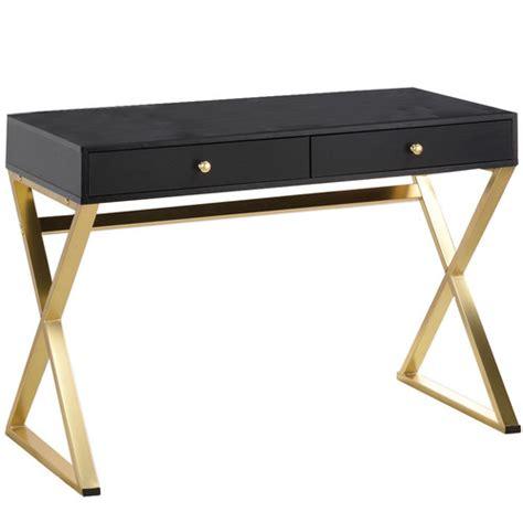 black and gold desk milan direct black gold marilyn office desk reviews