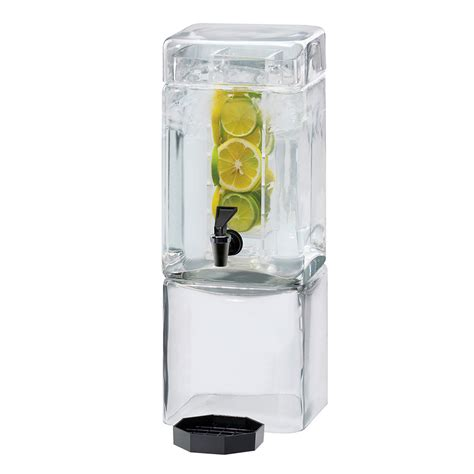 cal mil 1112 3inf 3 gallon square glass beverage dispenser