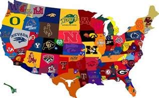 college and state map college football fan map of u s a