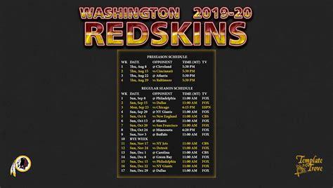 washington redskins wallpaper schedule