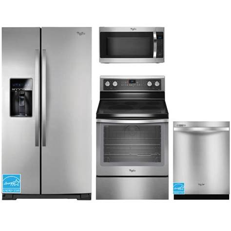 whirlpool kitchen appliance package whirlpool wrs537siam stainless steel complete kitchen