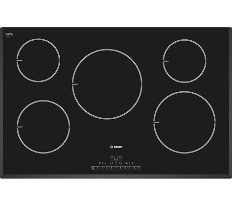 induction or electric hob buy bosch pim851f17e electric induction hob black free delivery currys