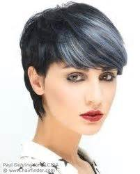 hairstyles with grey streaks black hair with gray streaks hairstyl