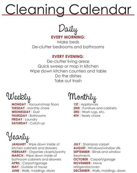 guide to your best 17 best ideas about household cleaning schedule on