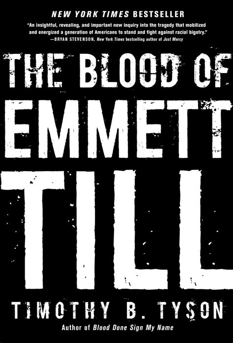 the blood of emmett till book by timothy b tyson