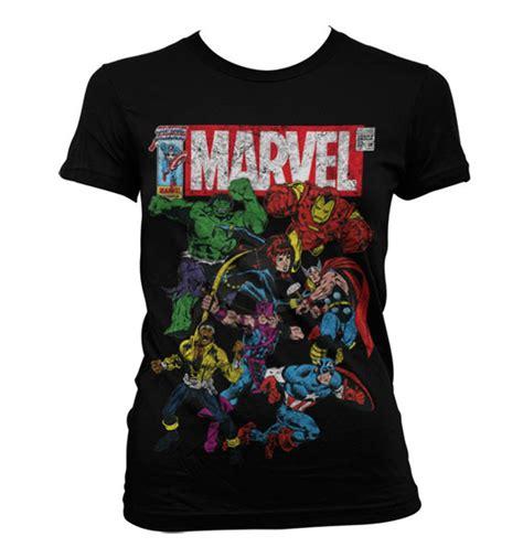 Dc Comics Porte Cl 195 Marvel Comics La Team T Shirt Girlie Femme