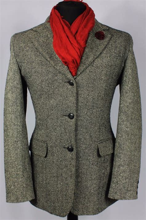 tweed jacket size 12 womens tweed jacket blazer esprit herringbone grey size 12