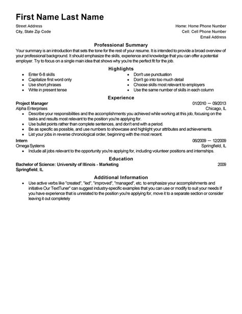 Template For Resume by Free Professional Resume Templates Livecareer