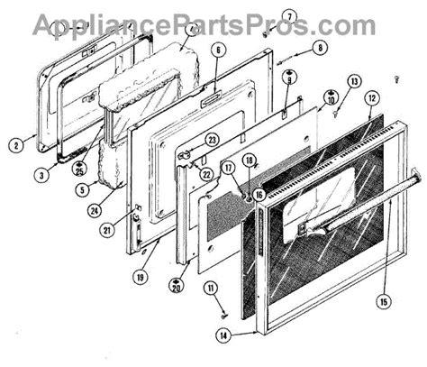 Parts For Jenn Air W122 Door Parts Appliancepartspros Com Jenn Air Oven Door Glass Replacement