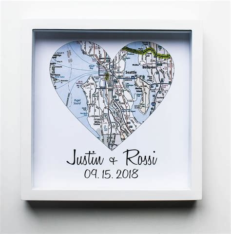 Wedding Gift Print by Wedding Gift Map Framed Print Personalized Wedding Gift