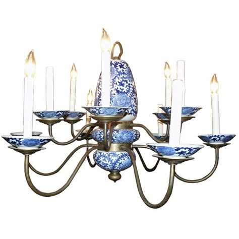 Blue And White Chandelier Blue And White Porcelain Chandelier At 1stdibs