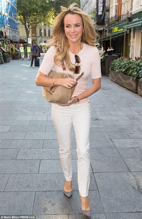 Pink Amanda amanda holden oozes effortless elegance in tailored white