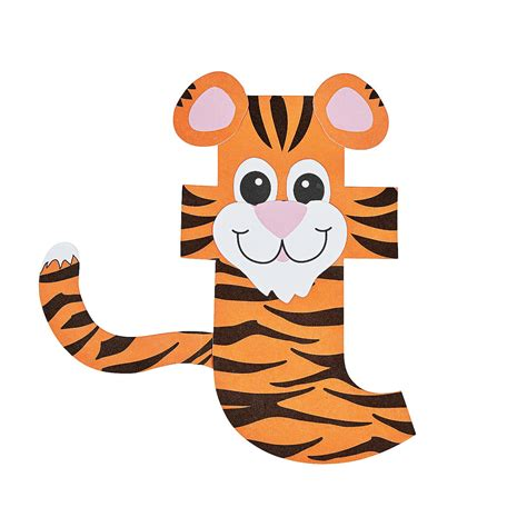 tiger crafts for t is for tiger letter t craft kit orientaltrading