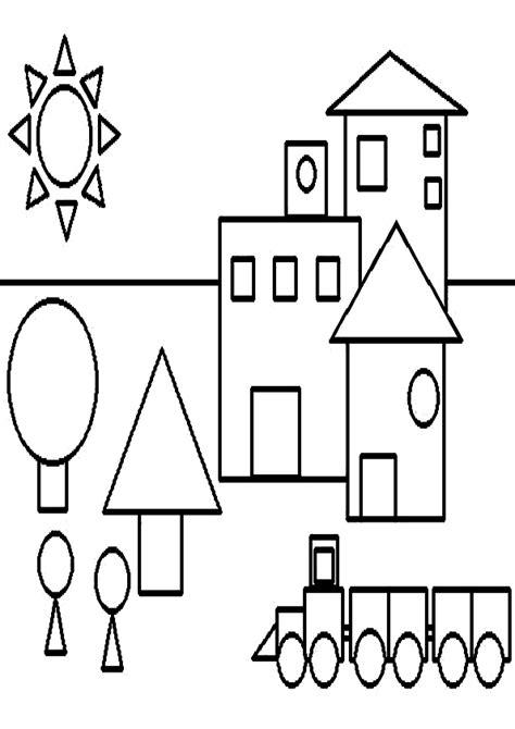 imagenes para colorear con figuras geometricas dibujos de figuras geom 233 tricas para colorear imagui