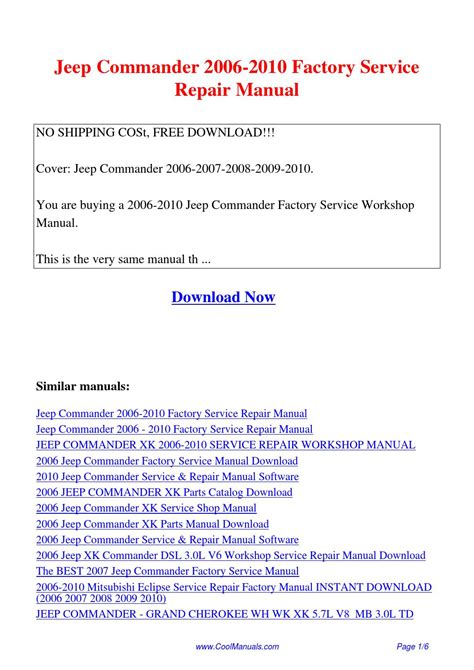how to download repair manuals 2007 jeep commander regenerative braking jeep commander 2006 2010 factory service repair manual pdf by guang hui issuu