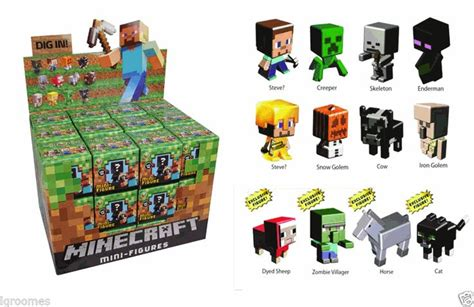 Pajangan Figure Minecraft Mini Figur Minifigures Seri 3 minecraft mini figure grass series 1 blind box mystery minifigure minecraft and grasses