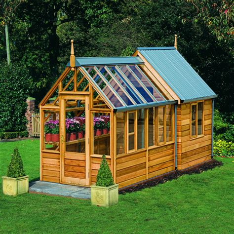 Backyard Shed Kits by Rosemoore Combi Greenhouse Shed Hobby Greenhouse Kits