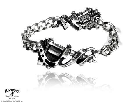tattoo gun bracelet tattoo gun mens link bracelet by alchemy gothic of england