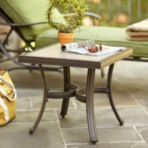 Hton Bay Patio Table - hton bay pembrey patio accent table hd14217 the home