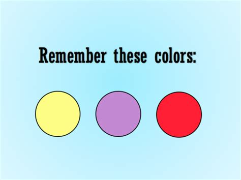 memory test only 1 of the population can pass this color memory test