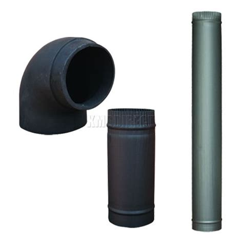 Fireplace Flue Pipe by 5 Quot 6 Quot Matt Black Steel Chimney Flue Pipe For Wood Log