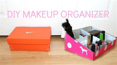 shoe box diy diy makeup organizer shoebox hairsstyles co