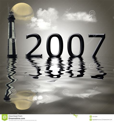 year of the year 2007 royalty free stock image image 1614206