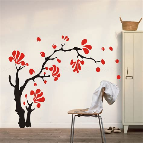 wall stickers cherry blossom items similar to cherry blossom wall decals flower