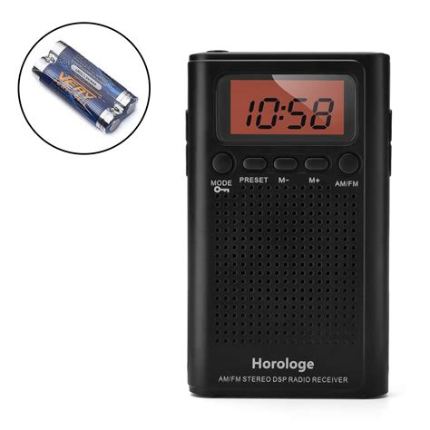 horologe am fm pocket radio portable alarm clock radio with time alarm ebay