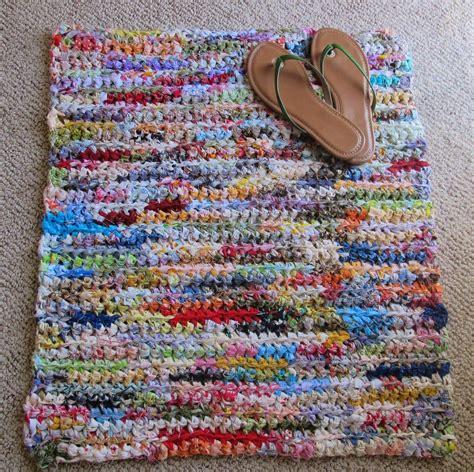 t shirt rag rug pattern pieceful crochet rag rug pinteres