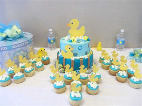 rubber duck baby shower decorations rubber ducky baby shower ideas photo 6 of 6