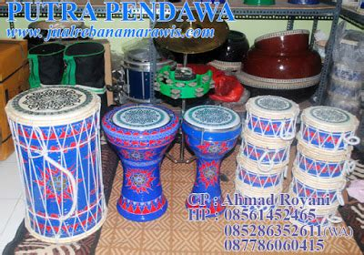 Marawis Batik 1 marawis batik warna biru merah distributor alat musik marawis hadroh rebana qosidah