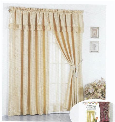 window curtain liners yarn dyed window curtain with valance liner