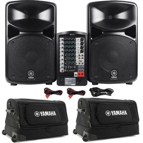 Kit Li Mono 100 Watt Subwoofer Plus Mic yamaha stagepas 600i 680 watt portable pa system w 2 rolling speaker cases ebay