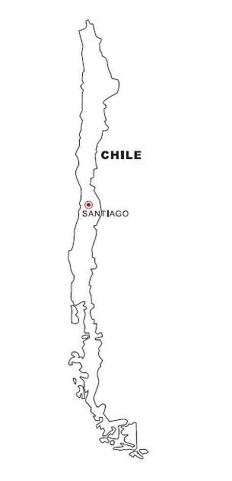 coloring page map of chile how to draw map of chile