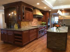 kitchen ideas with cherry cabinets 10x10 kitchen remodel kitchen mediterranean with cherry