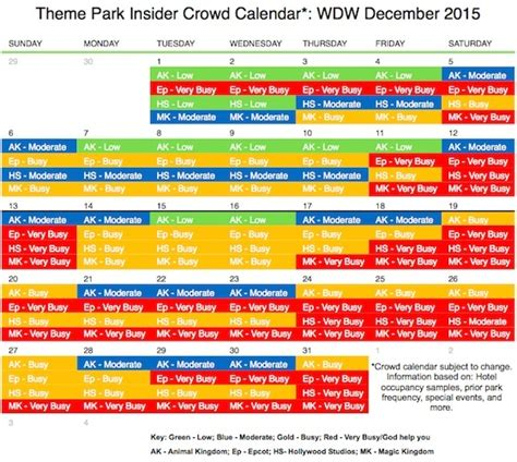 Theme Park Crowd Calendar | your guide to celebrating the holidays at walt disney world