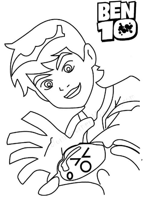 kids page ben 10 coloring pages