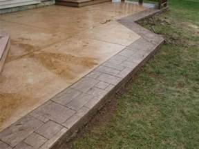 cement patio ideas designs sted concrete designs