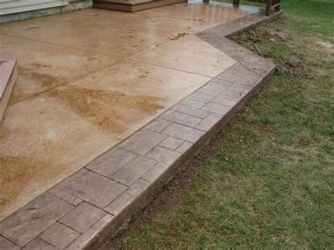 cement patio ideas designs sted concrete designs