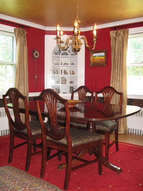 red dining room walls red wall gold ceiling dining rooms dining room needed a
