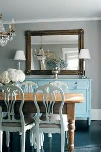 painted dining room furniture turquoise blue sideboard transitional dining room