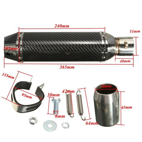 38 51 motorcycle carbon fiber exhaust muffler pipe removable silencer db killer lazada indonesia