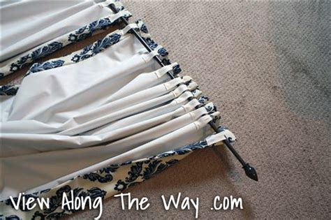 how to sew back tab curtains tutorial how to sew diy black out lined back tab curtains
