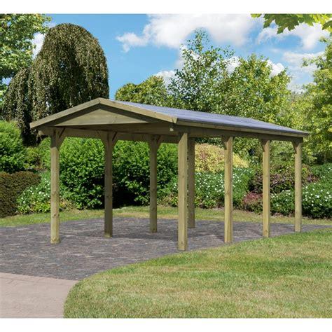 easy carport carport simple 19 60m 178 en bois autoclave fsc karibu
