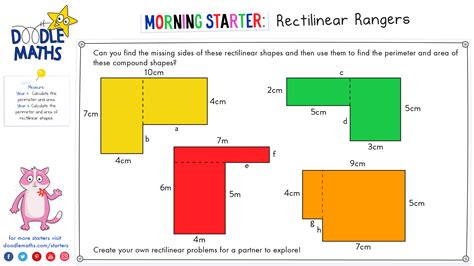 the in the area yr5 meas 4 calculate and compare the area of rectangles