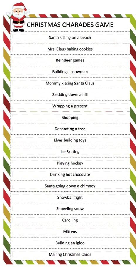 free printable christmas games church party best 25 charades ideas on pinterest christmas family