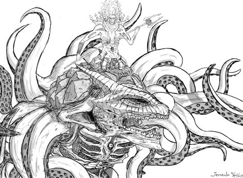 sea monster coloring pages coloring pages