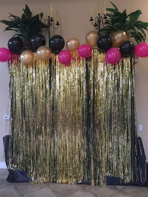 Black and Gold back drop   back drops   Birthday party