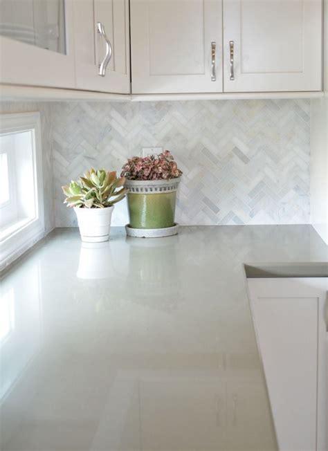 green kitchen cabinets centsational girl white cabinets with marble herringbone backsplash and sage